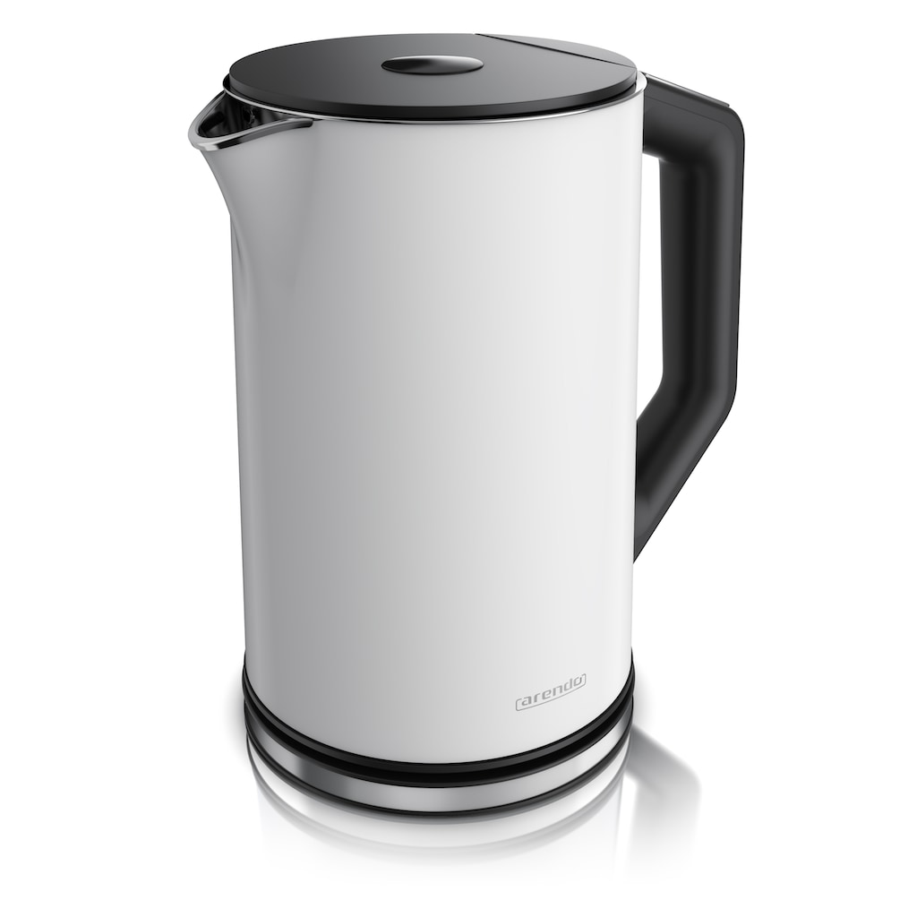 Arendo Wasserkocher »ELEGANT 1,5 Liter Weiß Matt«, 1.5 l, 2200 W