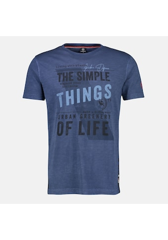 LERROS T-Shirt »in Großen Größen«, in verwaschener Optik mit Frontprint kaufen