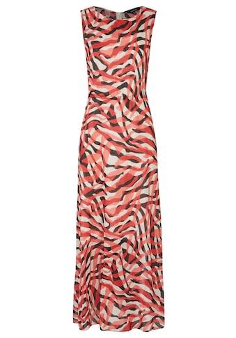 Daniel Hechter Bodenlanges Kleid mit Animalprint kaufen