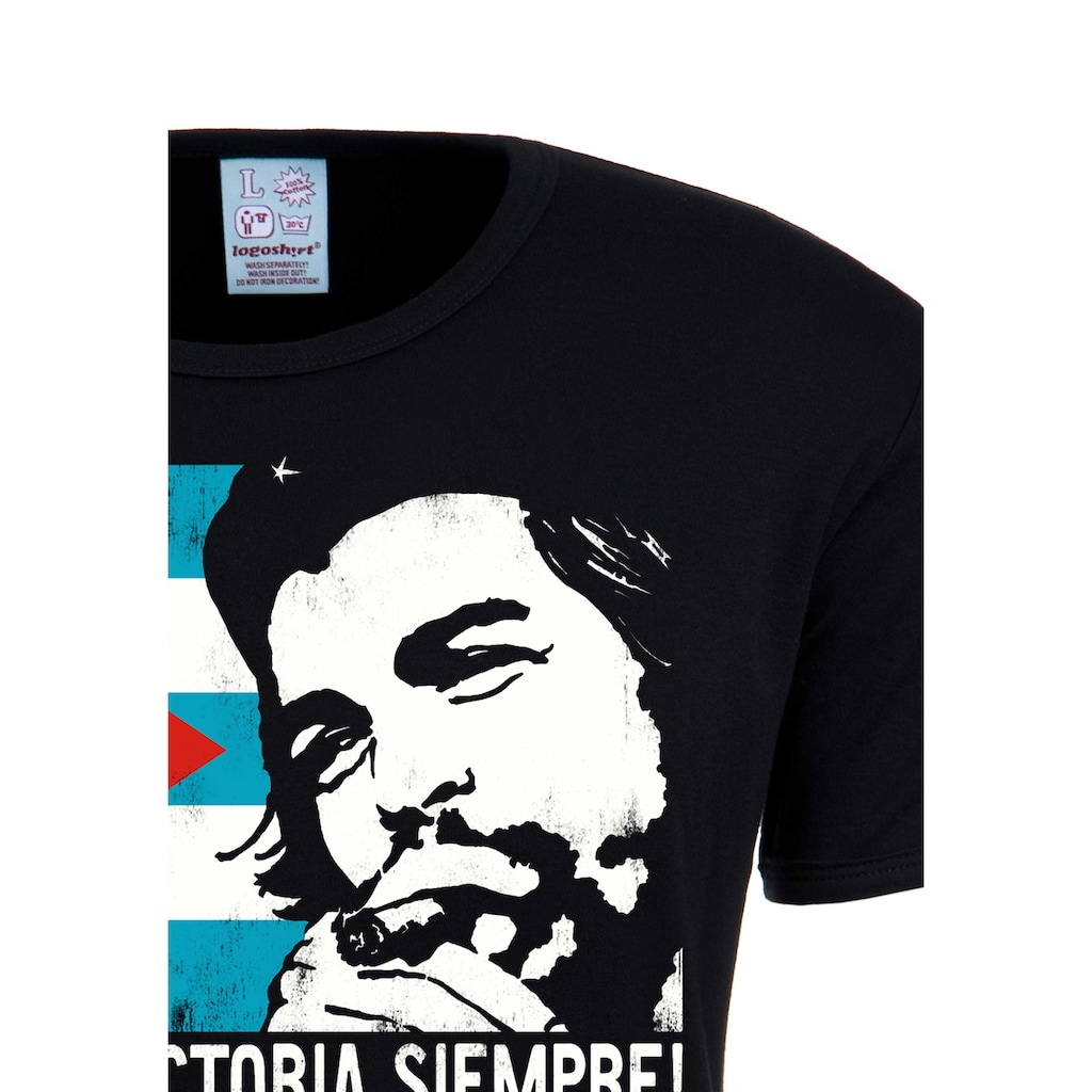 LOGOSHIRT T-Shirt »Che Guevara - Cuban Flag«, mit modischem Vintage-Print