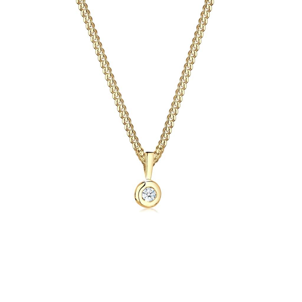 Diamore Collierkettchen »Kreis Solitär Rund Diamant (0.03 ct.) 925 Silber«