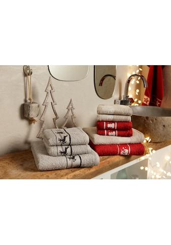my home Handtuch Set »Weihnachten«, mit Sternen und Bordüre kaufen