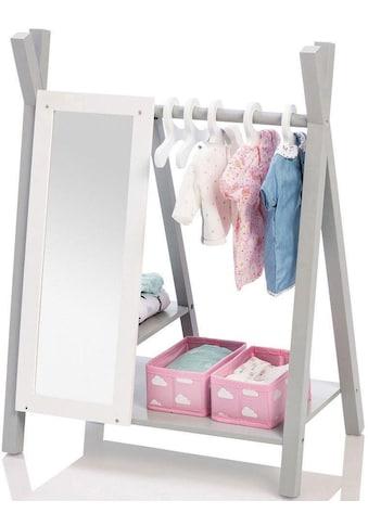 """MUSTERKIND® Puppenkleiderschrank """"Barlia, grau/weiß"""" kaufen"""
