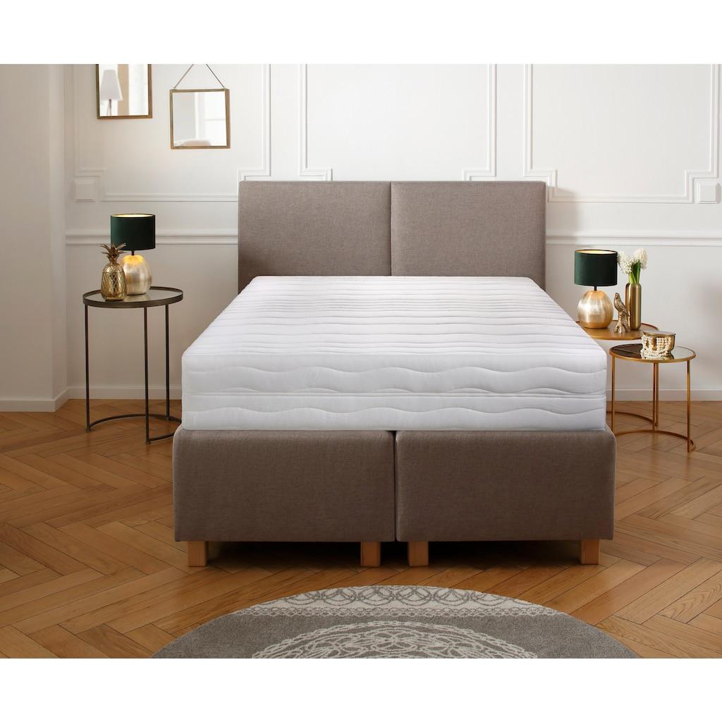 DELAVITA Komfortschaummatratze »Wismar«, (1 St.), Extra hoher Matratzenkern mit fester Sitzkante & Top-Hygiene