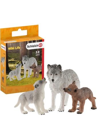 """Schleich® Spielfigur """"Wild Life, Wolfsmutter mit Welpen (42472)"""", (Set) kaufen"""