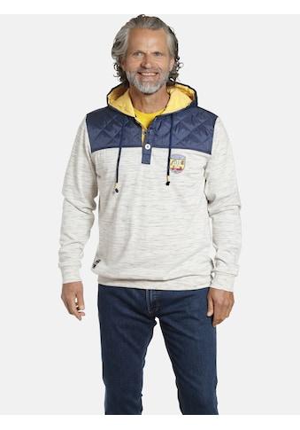 Jan Vanderstorm Kapuzensweatshirt »WOLDEMAR«, Hoodie mit Nylon Kontrast kaufen