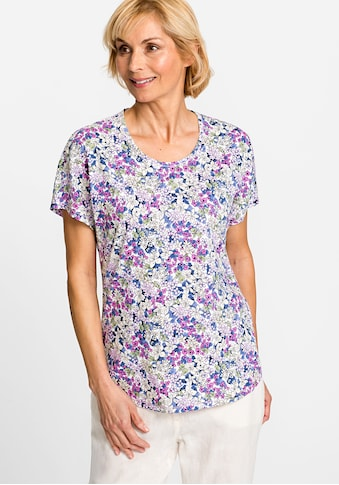 Olsen Rundhalsshirt, mit Blumenmuster kaufen