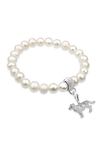 Nenalina Perlenarmband »Golden Retriever Kristalle Perle Silber« kaufen