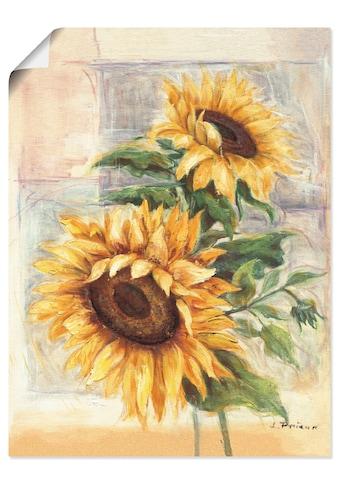 Artland Wandbild »Sonnenblumen II«, Blumen, (1 St.), in vielen Größen & Produktarten -... kaufen