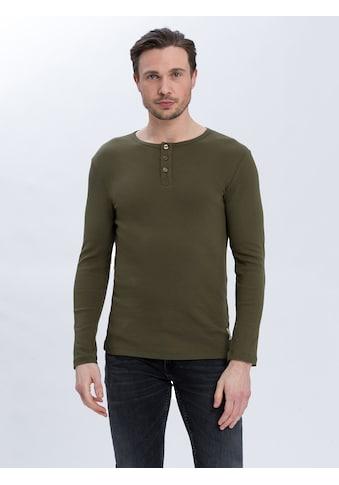 Cross Jeans® Langarmshirt »15632«, Henley mit Basic-Charakter kaufen