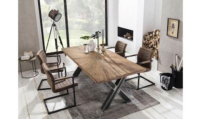 SIT Esstisch »Romanteaka«, mit sonnenförmig gemusterter Tischplatte, Shabby Chic, Vintage kaufen