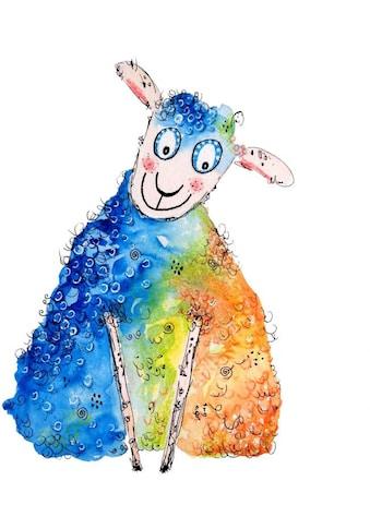 Wall-Art Wandtattoo »Lebensfreude - Happy Sheep« kaufen