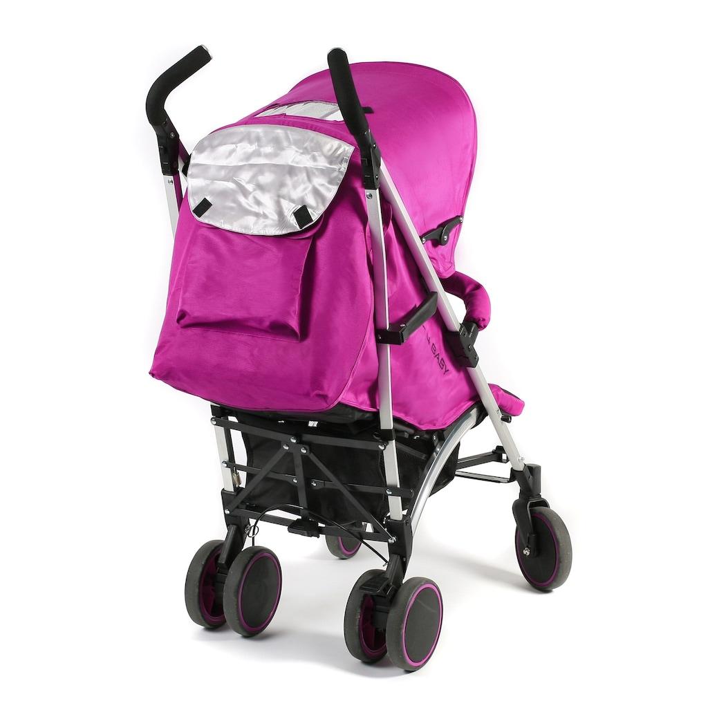 CHIC4BABY Kinder-Buggy »Luca, fuchsia«, mit schwenk- und feststellbaren Vorderrädern