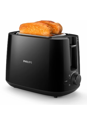 Philips Toaster »HD2581/90 Daily Collection«, 2 kurze Schlitze, 830 W, integrierter Brötchenaufsatz, 8 Bräunungsstufen, schwarz kaufen