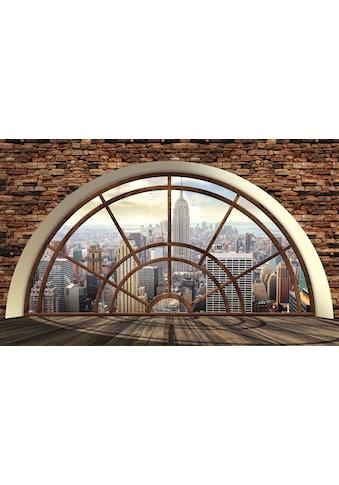 CONSALNET Vliestapete »New York Fensterblick«, verschiedene Motivgrößen, für das Büro oder Wohnzimmer kaufen