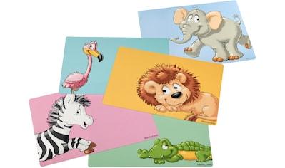Ritzenhoff & Breker Platzset »Happy Zoo«, pflegeleichter Kunststoff, mit Tier-Motiven kaufen