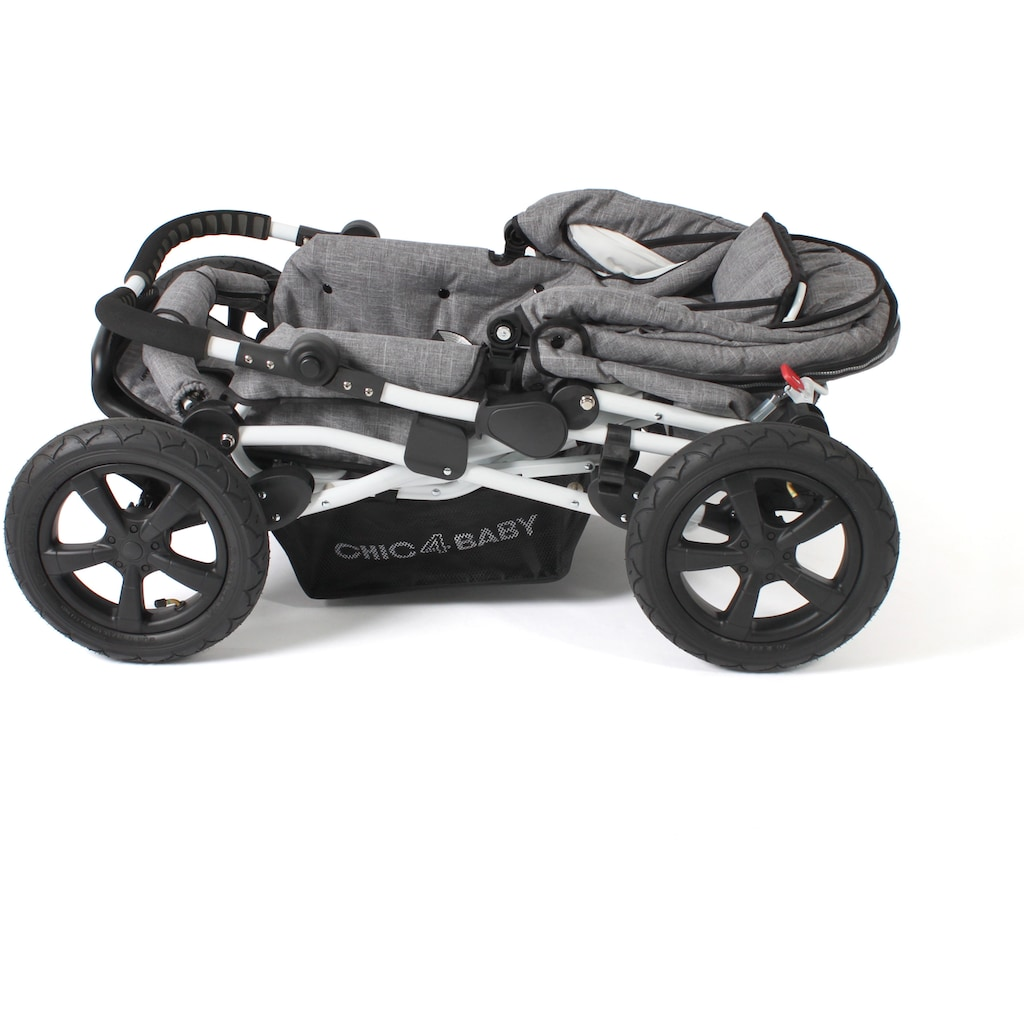 CHIC4BABY Kombi-Kinderwagen »Viva, Melange Grau«, 15 kg