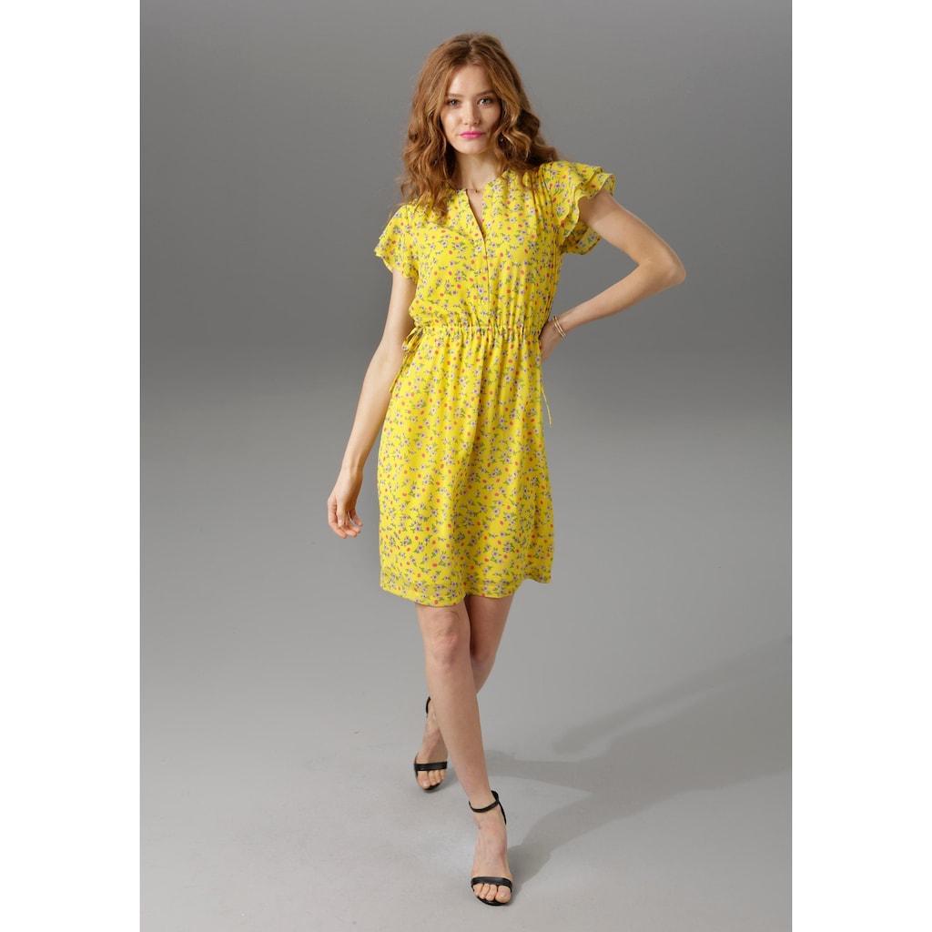 Aniston CASUAL Sommerkleid, in unterschiedlichen Blumendrucken