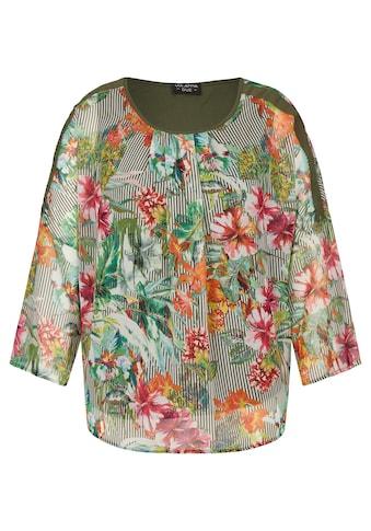 VIA APPIA DUE Sommerliche Bluse mit exotischem Print kaufen