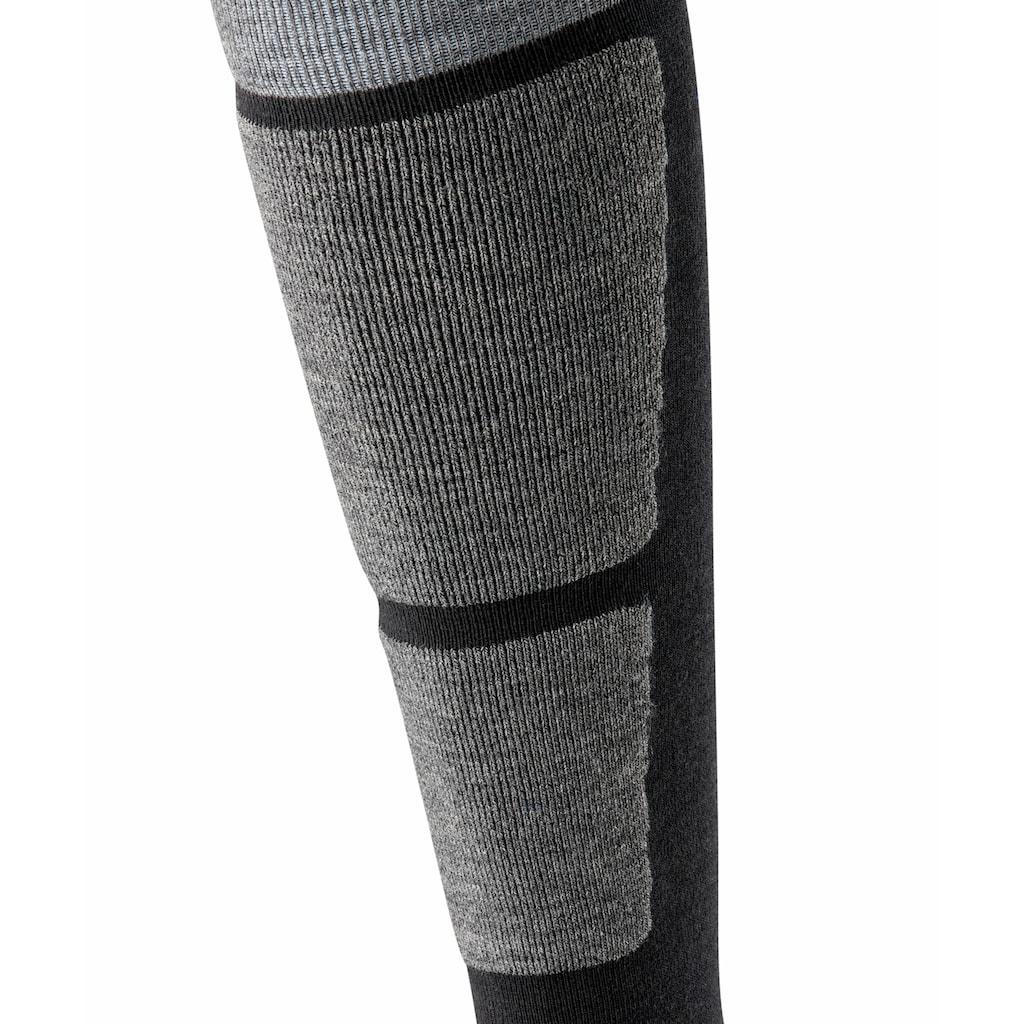 Burlington Kniestrümpfe »Uni Ski«, (1 Paar), ein wärmender Materialmix