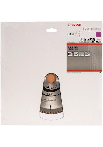 BOSCH Kreissägeblatt »Kreissägeblatt Multi Material«, 216 x 30 x 2,5 mm; 80 kaufen