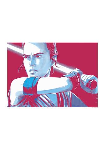 Komar Poster »Star Wars Faces Rey«, Star Wars kaufen