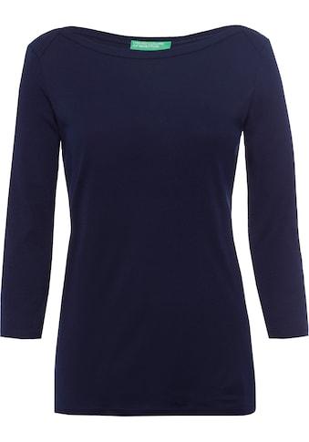United Colors of Benetton 3/4-Arm-Shirt, im Basic-Look kaufen