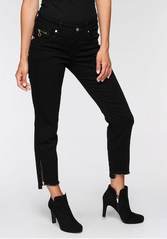 MAC Ankle-Jeans »Rich-Slim Chic«, Hinten etwas länger als vorne geschnitten kaufen