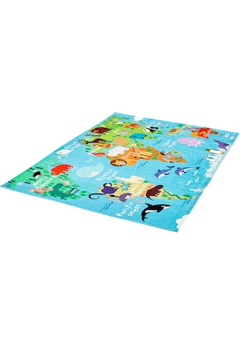 Obsession Kinderteppich »My Torino Kids 233«, rechteckig, 10 mm Höhe, Motiv Weltkarte,... kaufen
