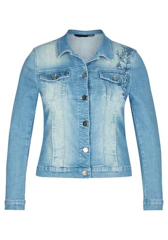 LeComte Jeansjacke, mit Stickerei und langen Ärmeln kaufen