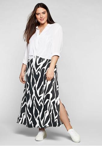Sheego Trägerkleid, mit leicht transparenter Bluse kaufen