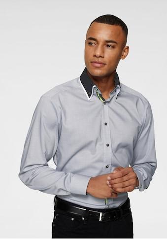 Bruno Banani Businesshemd, neonfarbene Kontrastdetails, bügelfrei kaufen