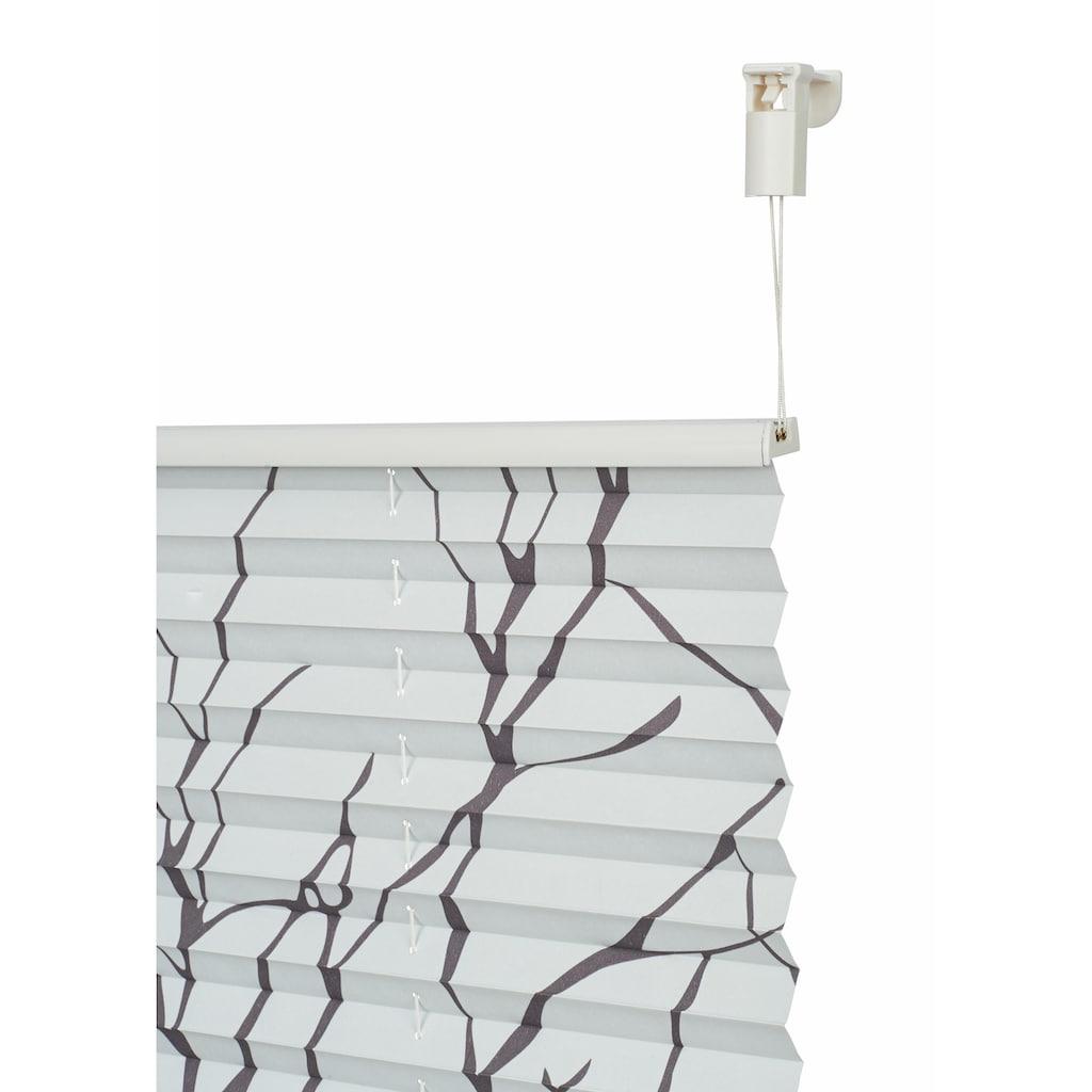 my home Plissee »Dondo«, verdunkelnd, energiesparend, ohne Bohren, verspannt, im Fixmaß