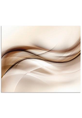 Artland Küchenrückwand »Braune abstrakte Welle« kaufen