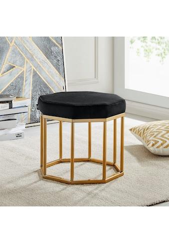 Leonique Hocker »Ayda«, mit einem schönen goldfarbenen Metallgestell, Breite 42 cm kaufen