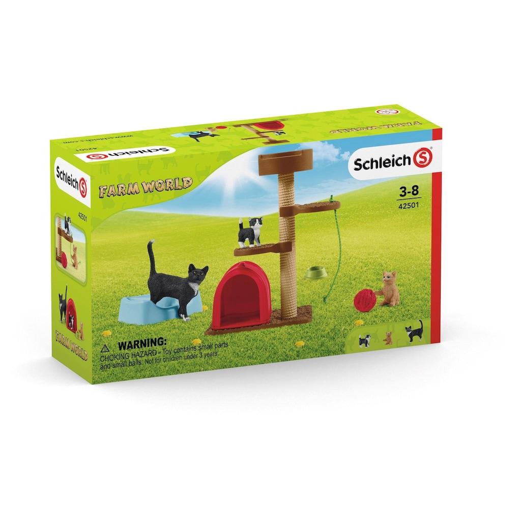 """Schleich® Spielfigur """"Farm World, Spielspaß für niedliche Katzen (42501)"""", (Set)"""