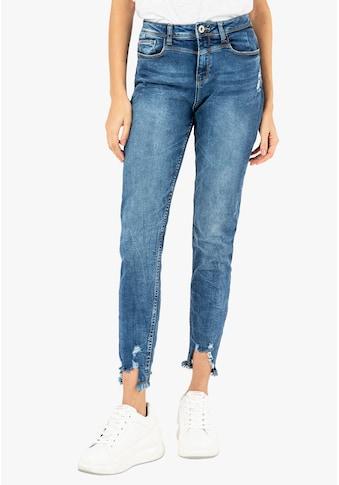 SUBLEVEL Skinny-fit-Jeans, mit fransigem Saum kaufen