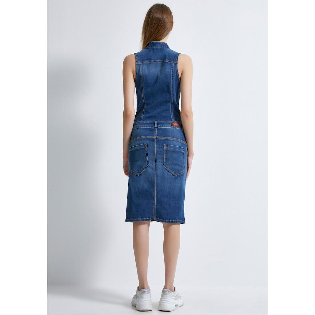 LTB Jeanskleid »BILLY«, mit vielen Teilungsnähten für eine figurbetonte Passform