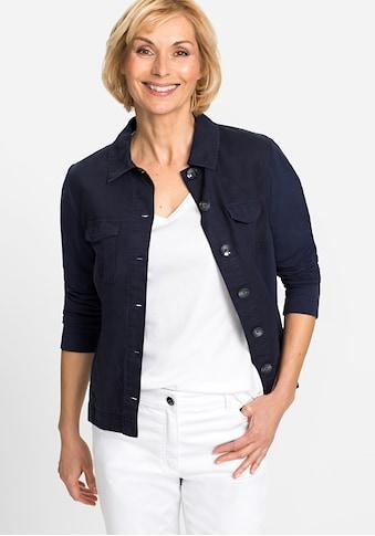Olsen Sweatjacke, mit Hemdkragen und Knopfleiste kaufen