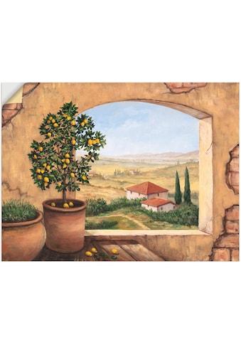 Artland Wandbild »Fenster in der Toskana«, Fensterblick, (1 St.), in vielen Größen &... kaufen
