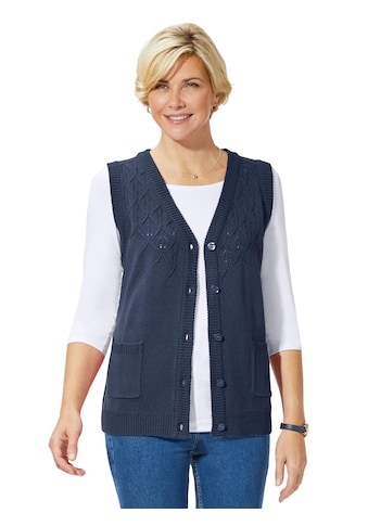 Classic Basics Strickweste mit feinem Ajour - Strick kaufen
