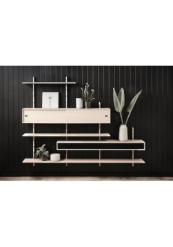 PBJ Wandregal »Less«, inklusive Mediakabinet, Breite 220 cm kaufen