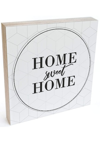Wall-Art Holzbild »Tischdeko Home sweet home«, (1 St.) kaufen