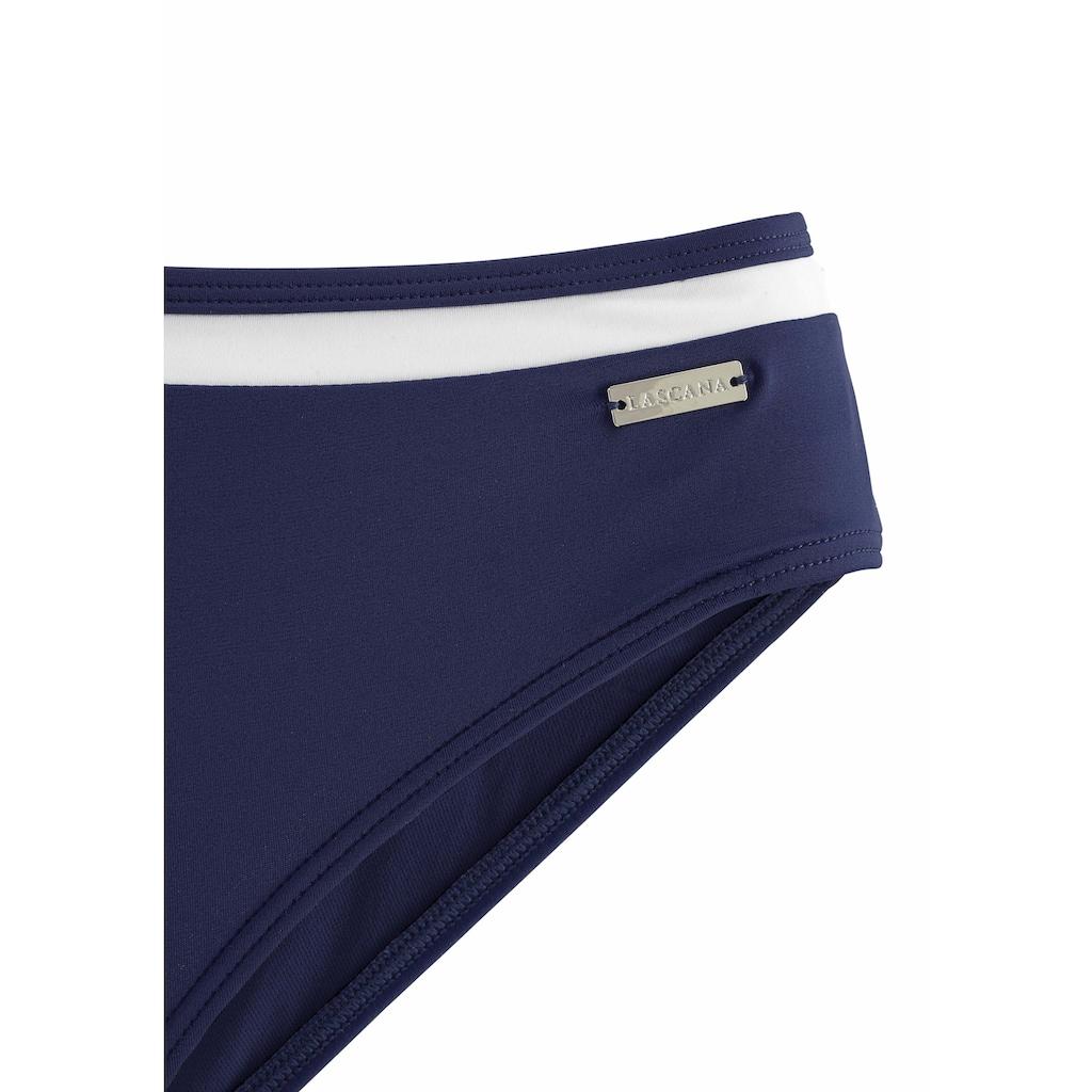 LASCANA Bügel-Bikini, mit Kontrastdetails