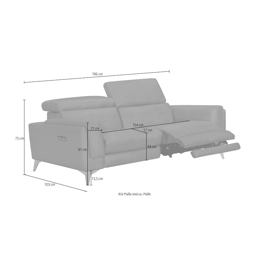 Places of Style Polstergarnitur »Wyoming«, (Set, 2er-Set), 2tlg.-Set, Elektrische Relaxfunktion, USB-Anschlüsse, manuelle Kopfteilverstellung