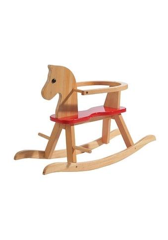 roba® Schaukelpferd »Natur/Rot«, aus Holz kaufen