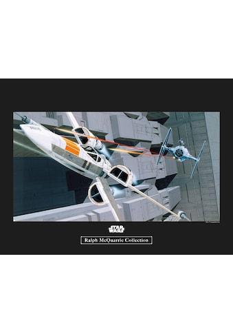 Komar Poster »Star Wars Classic RMQ X-Wing vs TIE-Fighter«, Star Wars kaufen