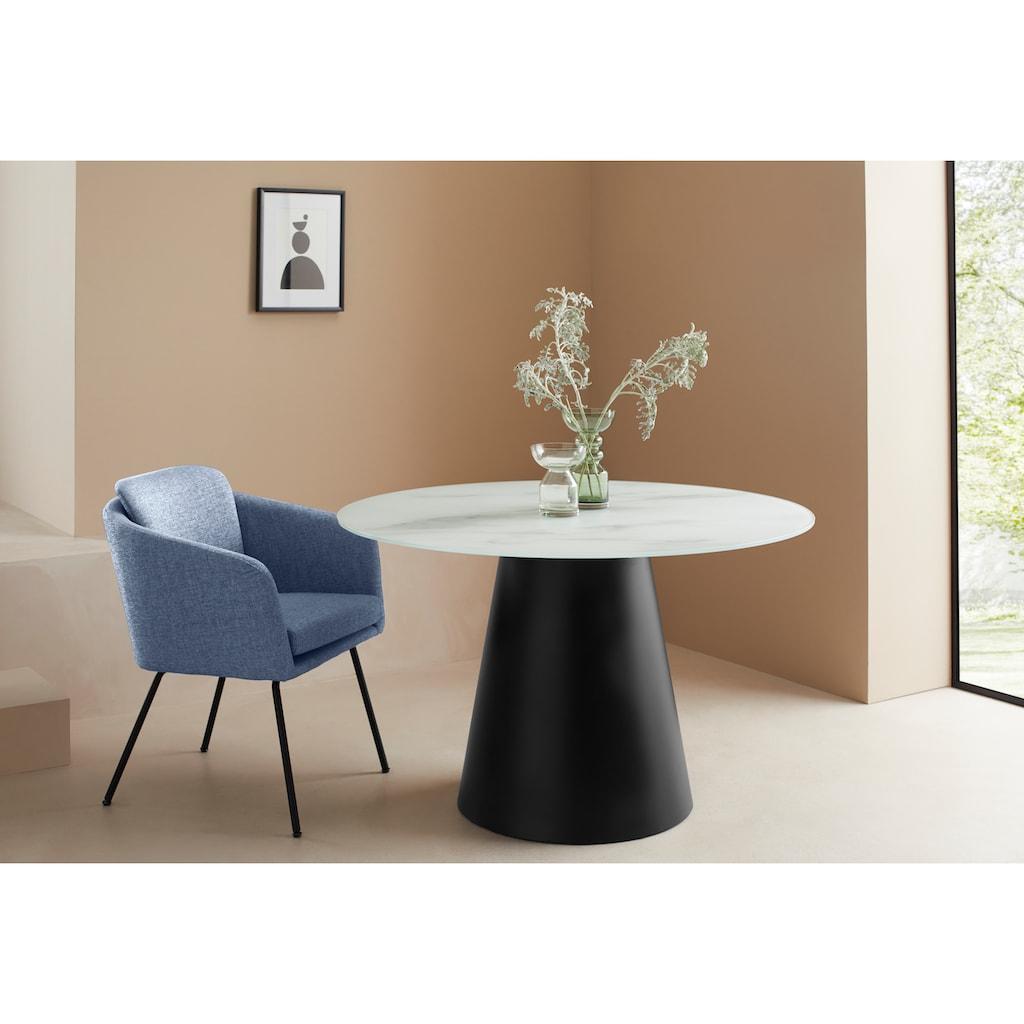 LeGer Home by Lena Gercke Esszimmerstuhl »Fleur«, Sitz -und Rücken gepolstert, in 4 Farben erhältlich