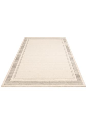 DELAVITA Wollteppich »Nenad«, rechteckig, 14 mm Höhe, reine Wolle, Bordürenteppich, Wohnzimmer kaufen