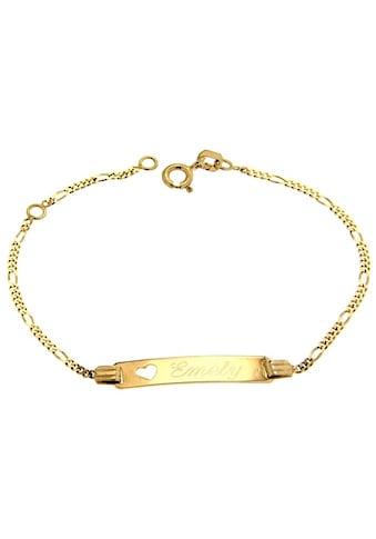 Firetti ID Armband »Figarokettengliederung, 1,5 mm, auf Wunsch mit Gratis-Gravur« kaufen